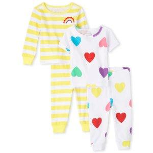 新生儿-4T女宝家居服4件套