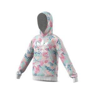 AdidasGirls' Floral Hoodie - Big Kid