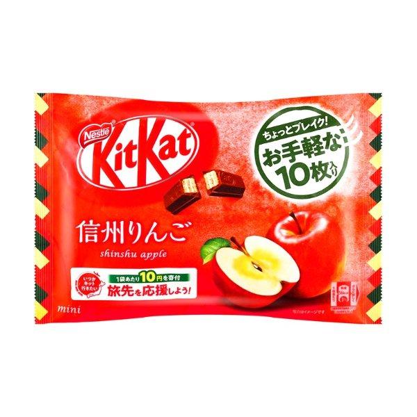 日本NESTLE雀巢 KitKat 夹心威化黑巧克力 日本信州苹果 10枚入
