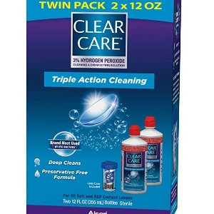 Clear Care Cleaning Solution with Lens Case, Twin Pack