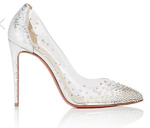 CHRISTIAN LOUBOUTIN Degrastrass PVC & Specchio Leather Pumps