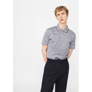 MangoStriped cotton polo shirt - Men | OUTLET USA
