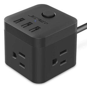 $10.99(原价$16.99)JSVER 紧凑方块型插线板 3口 + 3 USB接口
