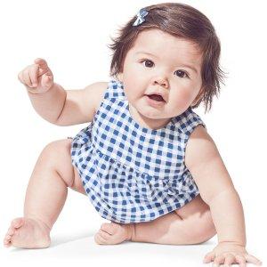 1.1折起 婴儿两件套$3.59最后一天:Carter's童装官网 清仓区全部额外6折季末大促,多数再降