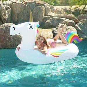 $14.95(原價$34.99)GoFloats 獨角獸水上浮床促銷