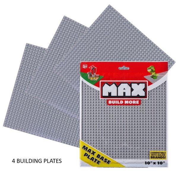 Max Build More 4片装 10*10英寸基础搭建板