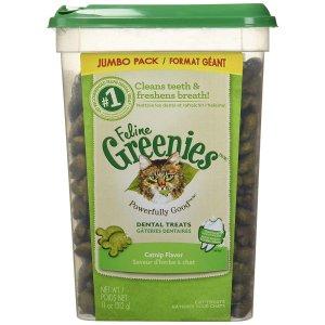 $7.59(原价$10.99)Feline Greenies 猫咪洁牙零食11盎司
