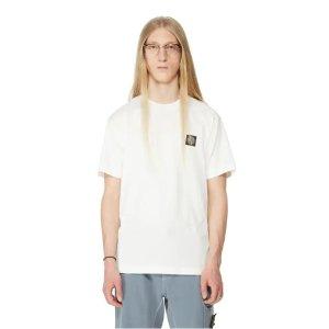 Stone Island100%全棉!白色logoT恤