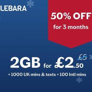 前3月套餐5折 £2.5/月起 5G网络!Lebara 电话卡惊爆价 支持国内含香港国际通话 无合约放心用
