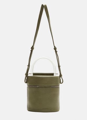 Building Block Drum Cylindric Bag in Green | LN-CC