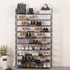 $36.99(原价$39.99)SONGMICS 实用10层金属鞋架 可放50双鞋