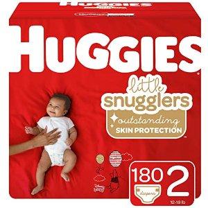 立减$5 单片低至$0.19Huggies 两个系列 婴儿纸尿裤热卖