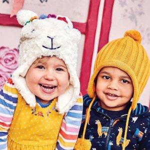JoJo Maman BebeFaux Fur Llama Hat