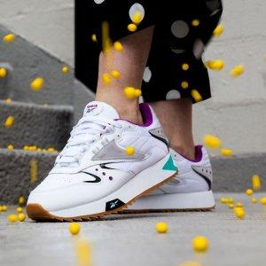 一律$34.99(原价高达$90)+包邮Reebok官网 时尚系列90's Styles鞋履折上折 男女都有