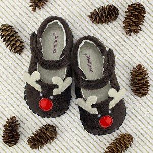 pediped婴儿 Originals® 红鼻子驯鹿限量版软底鞋