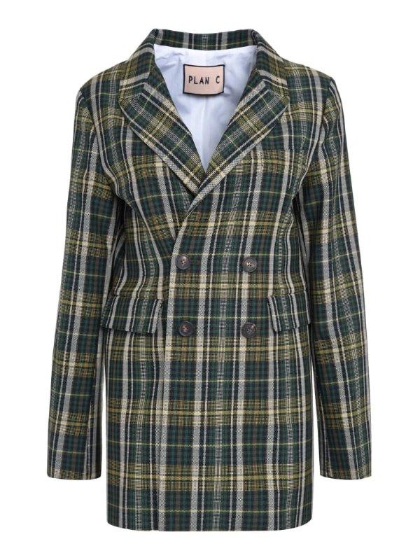 格子西装外套