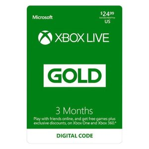 Black Friday Sale Live: Xbox Live 3 Month Gold Membership [Digital]