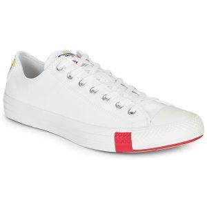 Converse白色低帮帆布鞋