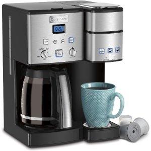 $189.99(原价$279.99)史低价:CUISINART 2合一可编程咖啡机 轻松搞定早餐咖啡