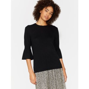 HalstonCASHMERE BLEND SWEATER WITH BELL CUFFS