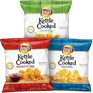 $12.15 一袋只需$0.3Lay's Kettle 薯片3口味混合装 40袋