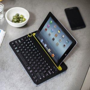 折后€43.9 平板、手机码字必备Logitech K480 蓝牙无线键盘热促 可连接多部设备
