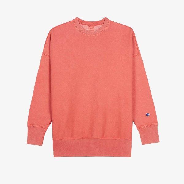 橙色圆领衫