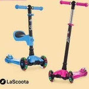 低至6折 高性价比款LaScoota 儿童踏板车特卖 2合1款可当平衡车、踏板车