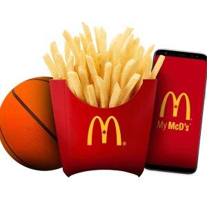仅限安省限今天:McDonald's 麦当劳请你免费吃中薯条