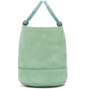 Simon Miller: Blue Nubuck Bonsai 15 Bag | SSENSE