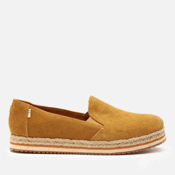 厚底金色渔夫鞋