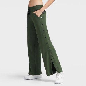 DKNY橄榄绿色阔腿裤