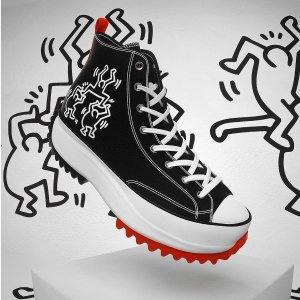 €50收帆布鞋 €30收印花T恤Converse X Keith Haring 联名来袭 黑白酷炫涂鸦风 时髦精必入
