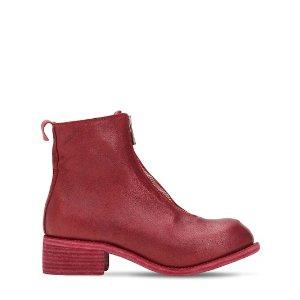 Guidi拉链短靴