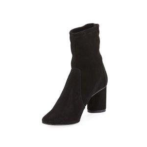 Margot Suede Pull-On 粗跟靴
