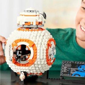 现价 £49.49(原价£59.99)星球大战 BB-8 乐高玩具 75187
