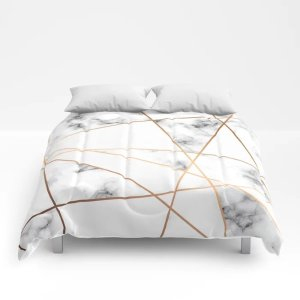 Society6Marble Geometry 054 Comforters by bluelela