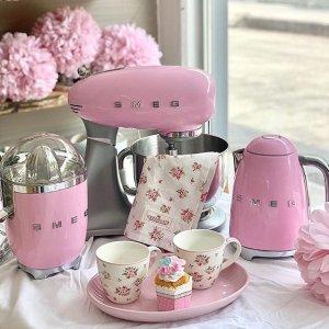 低至7.5折 $149.99收粉色水壶Smeg 厨房小家电热卖 超多网红明星推荐 家电中的爱马仕