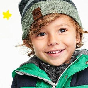 $14.99 收原价$60的牛角扣大衣OshKosh童装官网 冬季外套折上折,0-14岁都有