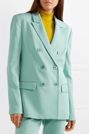 Tibi | Steward oversized double-breasted stretch-crepe blazer | NET-A-PORTER.COM