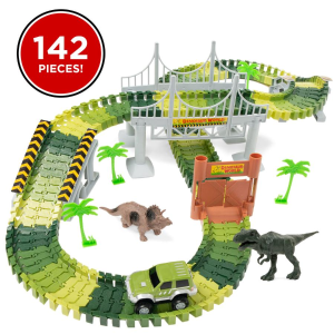$16.99 + Free Shipping was $28.99142-Piece Big Dinosaur Figure Racetrack Toy Playset w/ Battery Operated Car