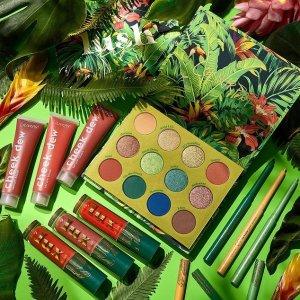 无门槛全球免邮+精选9折Colourpop 新品Lush Life系列上新 森林植物风 日常也好操作