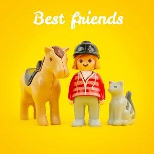 满$50享7.5折playmobil 德国儿童拼装玩具 专为幼童设计的1.2.3系列