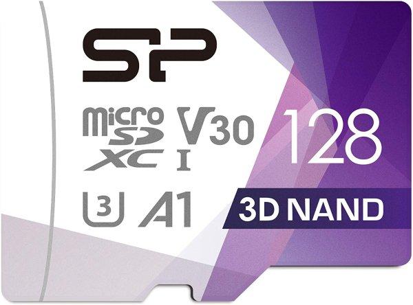 Silicon Power 128GB 100/ 80MB/s Micro SDXC 存储卡