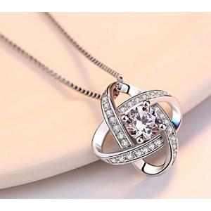"""史低价 $13.99(原价$83)Joyfulshine """"永恒的爱""""925纯银吊坠项链"""
