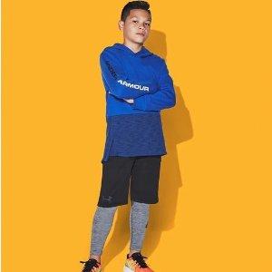 $10(原价$20) 小码妹子也能穿Under Armour 男童运动吸汗短裤(码全)