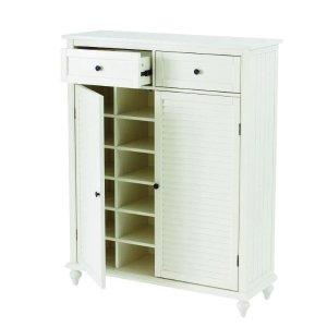 Home Decorators Collection白色鞋柜 可放24双