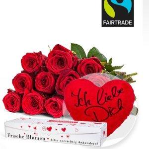 2月14日之前送货保障情人节好礼物:鲜花网站valentins满19.99欧直减5欧