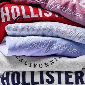 5折起+额外8折 €13收卫衣Hollister 冬季大促降价 加州休闲风席卷你的衣橱 BM风都有