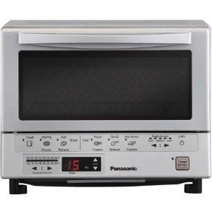$97Panasonic NB-G110P Flash Xpress Toaster Oven, Silver